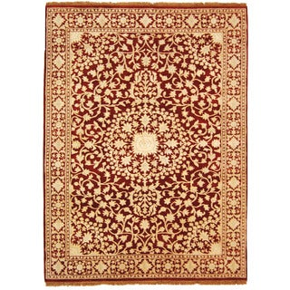 Safavieh Hand-knotted Ganges River Red/ Ivory Wool Rug (9' x 12')