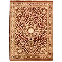 Safavieh Hand-knotted Ganges River Red/ Ivory Wool Rug - 9' x 12'