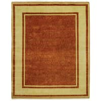 Safavieh Hand-knotted Ganges River Rust/ Ivory Wool Rug - 6' x 9'