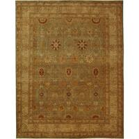Safavieh Hand-knotted Lavar Light Blue/ Ivory Wool Rug - 6' x 9'