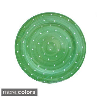 Hand-painted 'Pallini' Polka Dot Salad Plate (Italy)