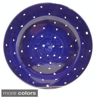 Handmade 'Pallini' Polka Dot Dinner Plate (Italy)