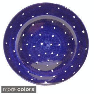 Hand-painted 'Pallini' Polka Dot Dinner Plate (Italy)