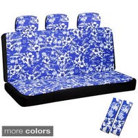 Oxgord Hawaiian Flower 60 40 Split Bench 8 Piece Seat Cover Set