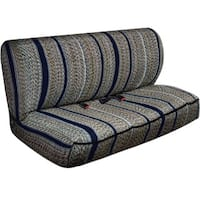 Saddle Blanket Striped Universal 2-piece Bench Seat Cover Set