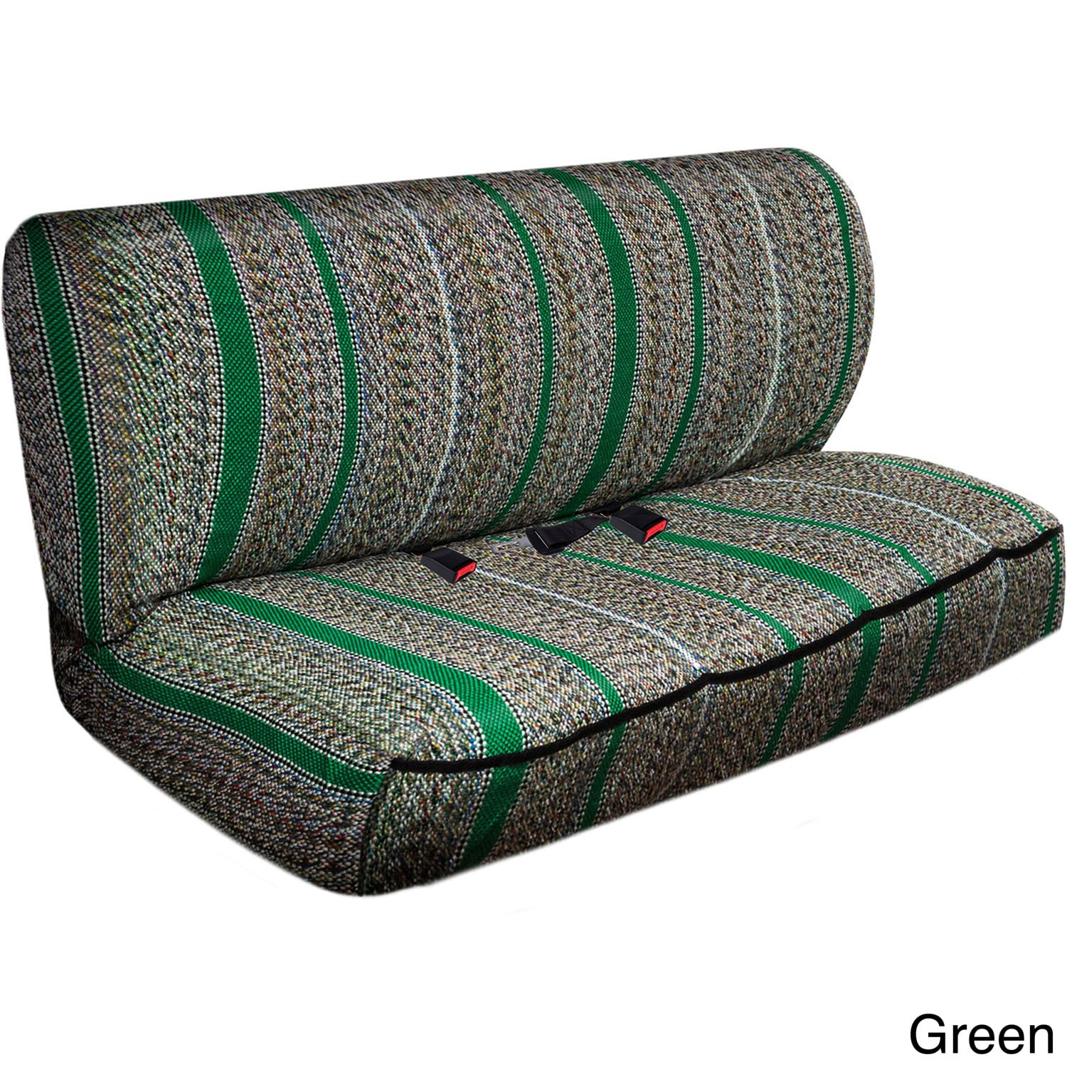 Oxgord Saddle Blanket Striped Universal 2-piece Bench Sea...