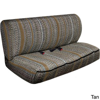 Saddle Blanket Striped Universal 2-piece Bench Seat Cover Set (Option: Tan)