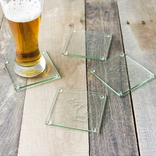 Home State Glass Coasters (Set of 4) (More options available)