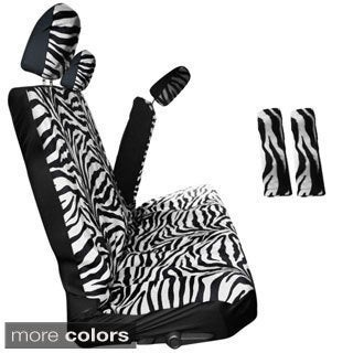Oxgord Zebra/ Tiger Striped 60/40 Split Bench 8-piece Seat Cover Set