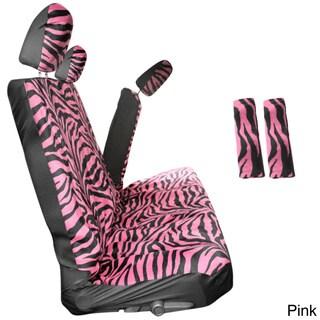 Oxgord Zebra/ Tiger Striped 60/40 Split Bench 8-piece Seat Cover Set