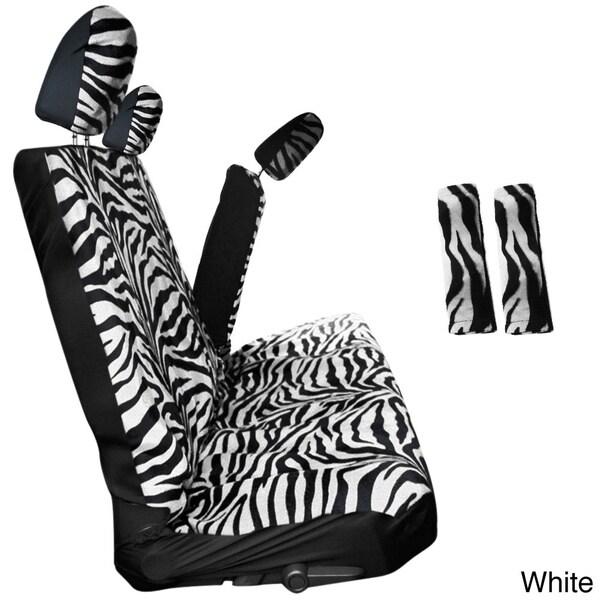 Shop Oxgord Zebra Tiger Striped 60 40 Split Bench 8 Piece