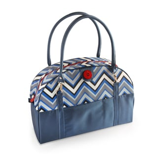 2 Red Hens Coop Carry-All Diaper Bag in Blue Chevron