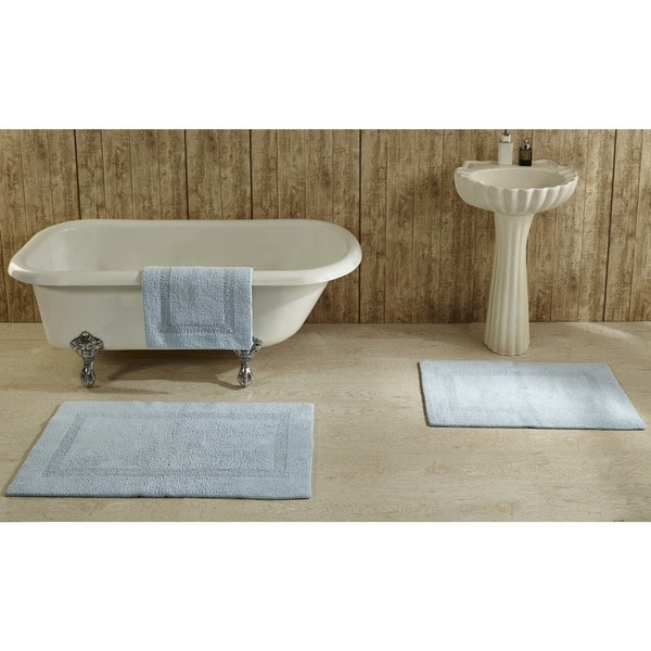 Reversible Bathroom Mats: Shop Lux 100-percent Cotton Tufted Reversible Rug Or Bath