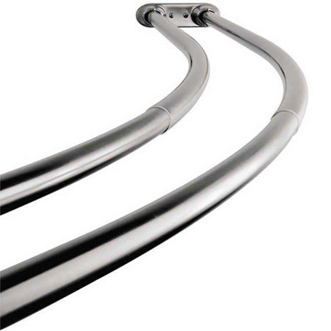 Kingston Brass Curved Adjustable Chrome Double Shower Cur...
