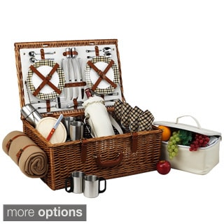 Picnic At Ascot Dorset 4-person with Coffee Set and Blanket Picnic Basket