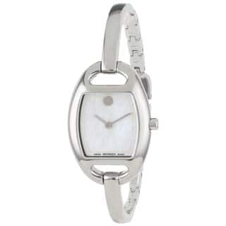 Movado Women's 606606 'Museum' Stainless Steel Bangle Watch https://ak1.ostkcdn.com/images/products/8846823/Movado-Womens-Museum-Stainless-Steel-Bangle-Watch-P16076113.jpg?impolicy=medium