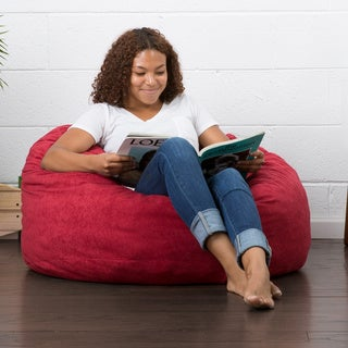 FufSack 3-foot Large Memory Foam/ Microfiber Bean Bag Chair