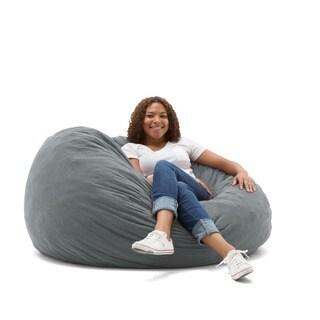 FufSack 4-foot Large Memory Foam/ Microfiber Bean Bag Chair