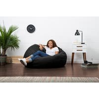 FufSack 4-foot Large Memory Foam/ Microfiber Bean Bag Chair