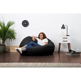FufSack 4 Foot Large Memory Foam/ Microfiber Bean Bag Chair