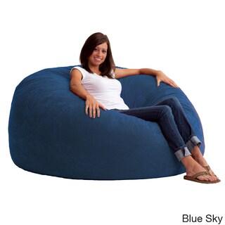 FufSack 5-foot King Memory Foam/ Microfiber Bean Bag Chair