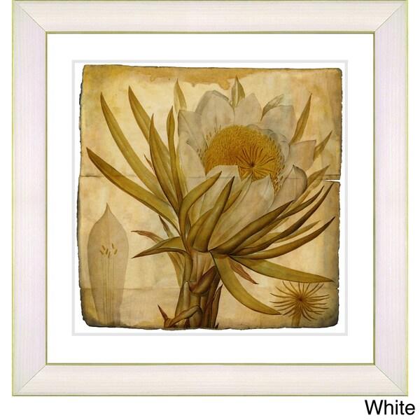 Zhee Singer 'Vintage Botanical No. 007 - Antiqued' Framed Fine Art Print