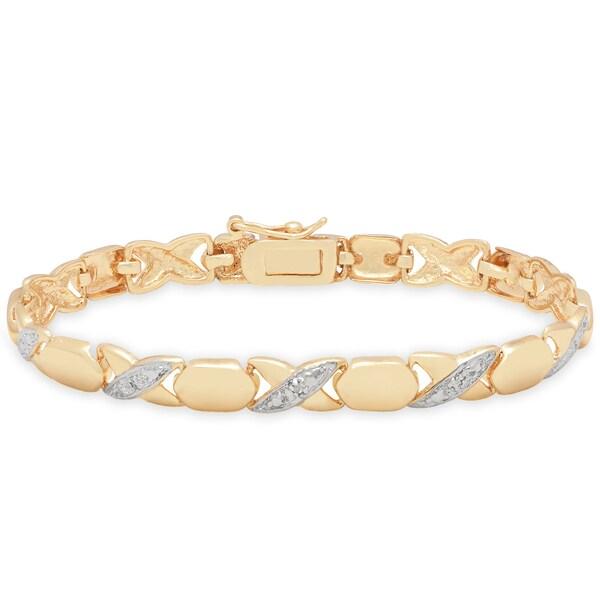 Finesque Yellow 14k Gold Overlay Diamond Accent X27