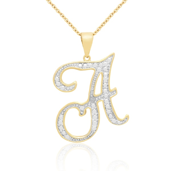 Shop 14k gold overlay diamond accent initial pendant necklace free 14k gold overlay diamond accent initial pendant necklace aloadofball Choice Image
