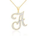 Initial Brass Diamond Necklaces