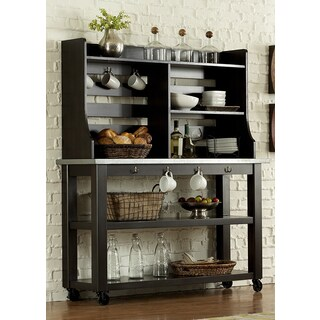 The Gray Barn Outerlands Charcoal Server and Hutch