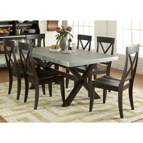 The Gray Barn Outerlands Charcoal 7-piece Dinette Set