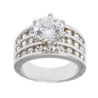 Simon Frank Designs 2.43ct TDW Center Bridal Inspired CZ Ring