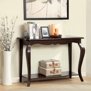Furniture of America Prozilla Traditional Tobacco Oak Accent Console Table