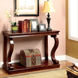 Furniture of America Lild Classic Cherry Solid Wood Console Table