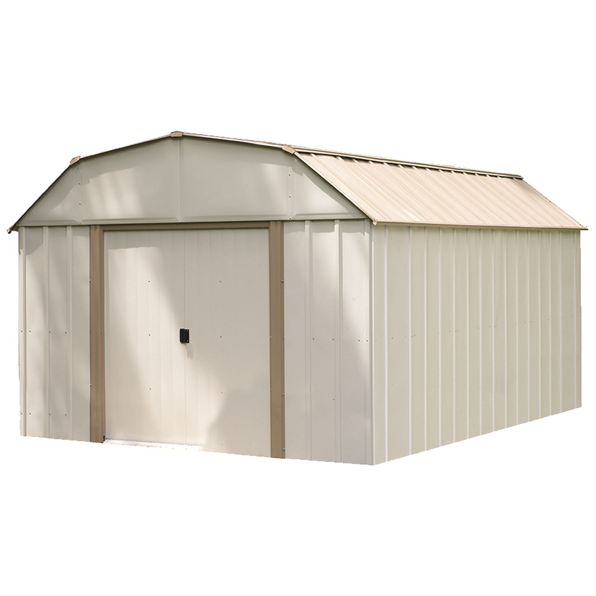 10 X 14 Ft Barn Style Taupe Eggshell Galvanized Steel