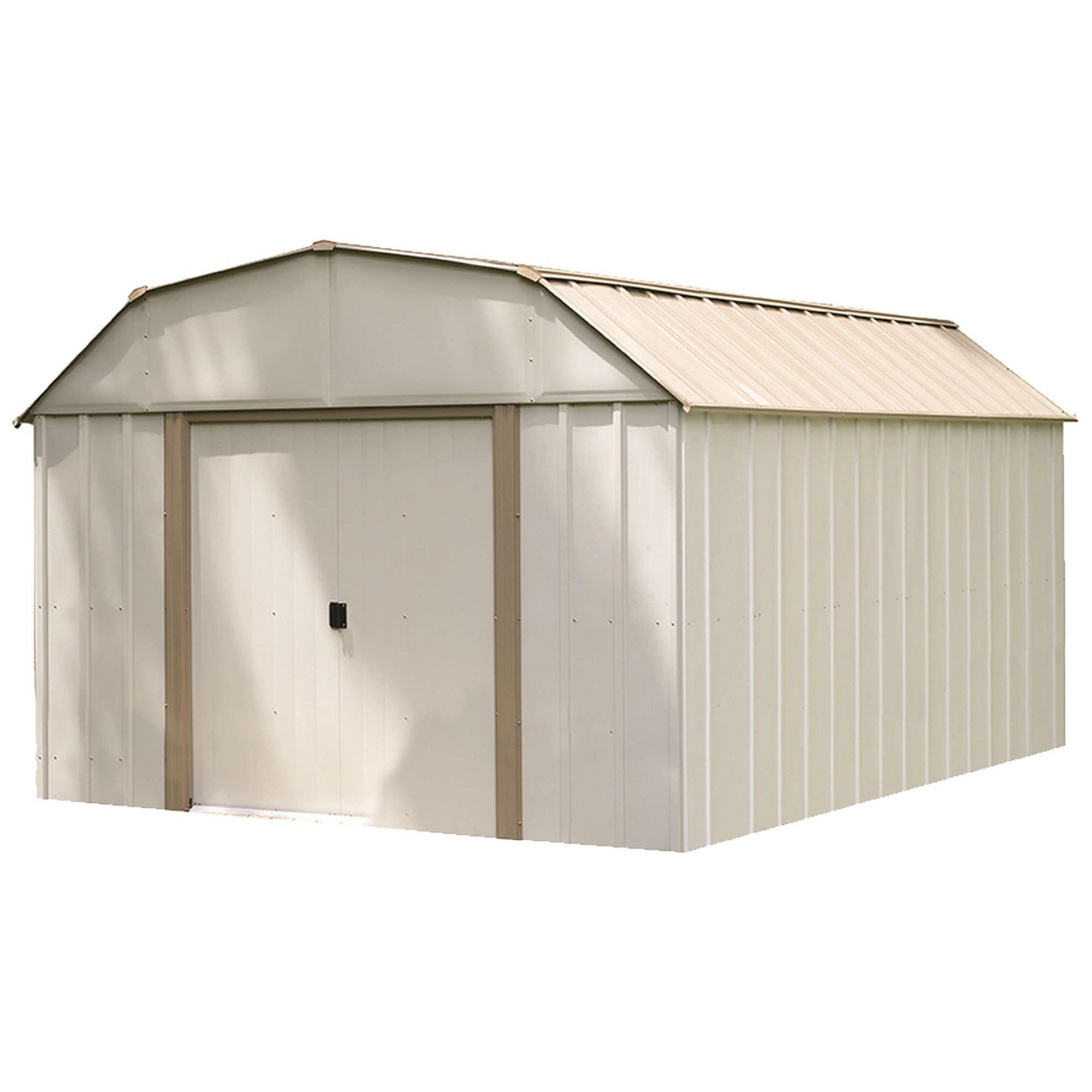 Arrow Group 10 x 14 ft. Barn Style Taupe/ Eggshell Galvan...