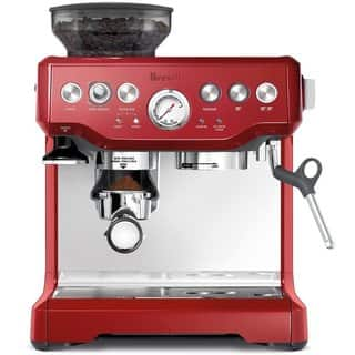 Breville BES870CBXL Barista Express Cranberry Red Espresso Machine|https://ak1.ostkcdn.com/images/products/8847080/P16076319.jpg?impolicy=medium