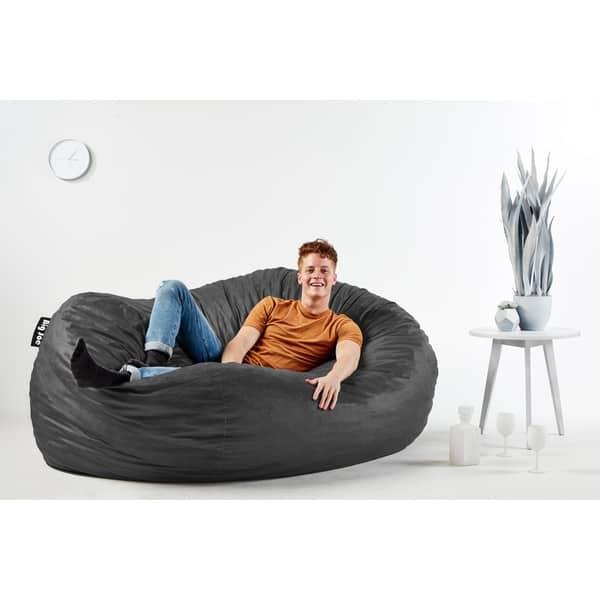 Pleasing Shop Big Joe Xxl Bean Bag Fuf W Removable Cover On Sale Inzonedesignstudio Interior Chair Design Inzonedesignstudiocom