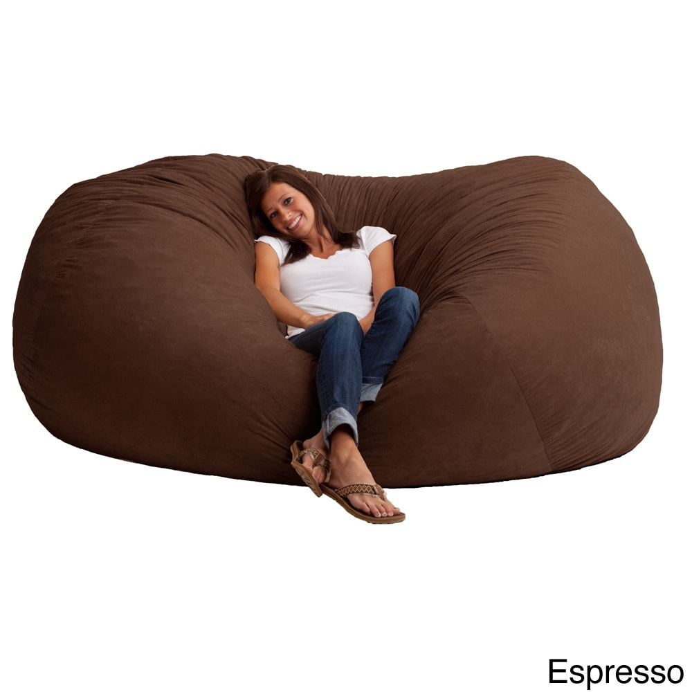 Joe L Fuf Microfiber Suede Bean Bag Chair