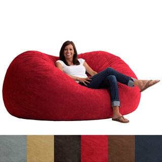 FufSack Memory Foam Microfiber 6-foot XL Bean Bag Chair
