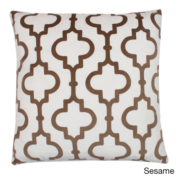 'Casablanca' Pattern Feather-filled 20x20 Square Throw Pillow