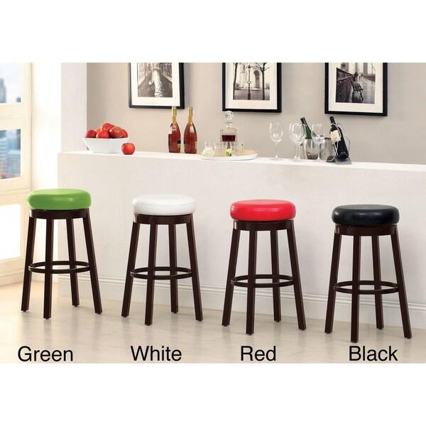 Furniture of america azio 29 inch leatherette swivel seat - Bright colored bar stools ...