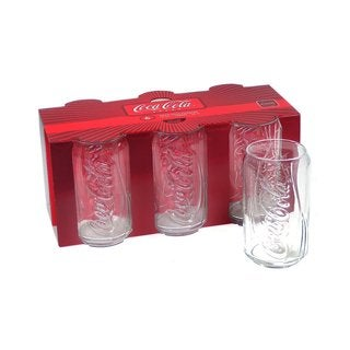 Coca-Cola Glass Vintage Style 12-ounce Coke Can Tumblers (Pack of 6)