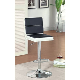 Furniture of America Geelzi Leatherette 34-inch Height Adjustable Barstool
