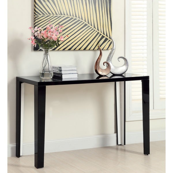 Furniture of America Lorzi High Gloss Lacquer Sofa Table Free