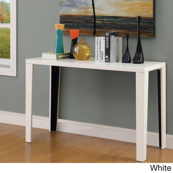 Furniture of America Yind Modern Black Solid Wood Sofa Table. Opens flyout.