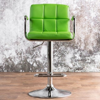 Furniture of America Corvelli Adjustable Swivel Leatherette Bar Stool