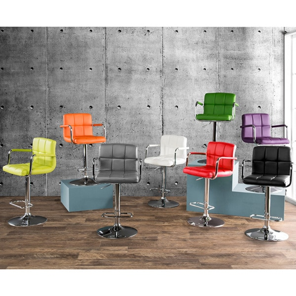 Furniture of America Corvelli Height Adjustable Swivel Leatherette Bar Stool