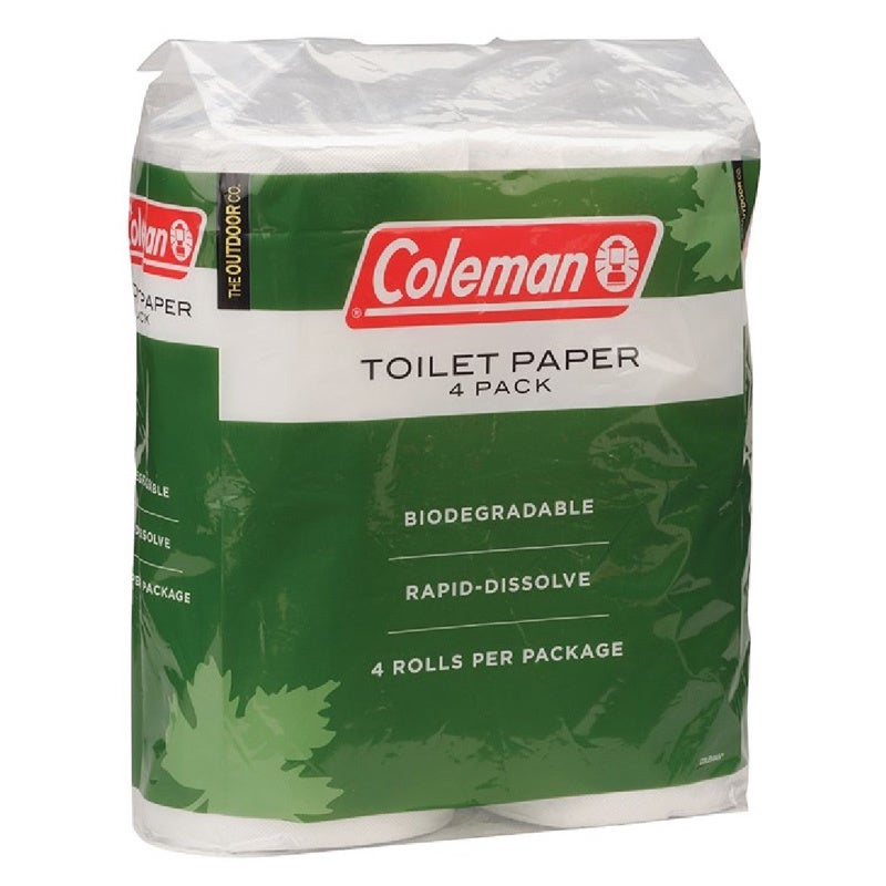 Coleman Green/ White Toilet Paper (Pack of 4) (4 Pack Toi...