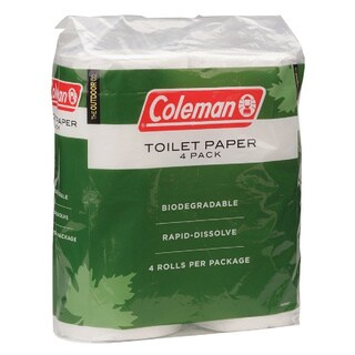 Coleman Green/ White Toilet Paper (Pack of 4)